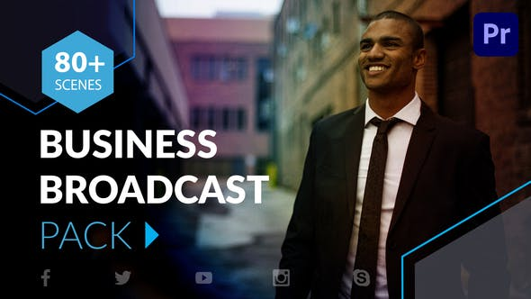 Business Broadcast Pack | Essential Graphics | Mogrt