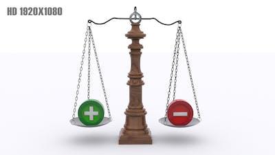 Scale - Positive and Negative Balance