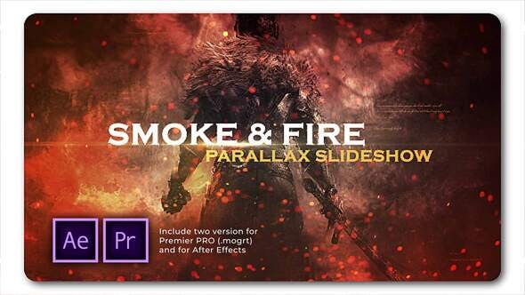 Smoke N Fire Diaporama Parallax