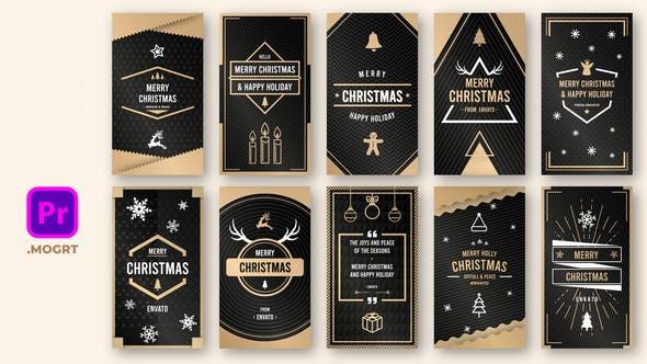 Gold Christmas Instastory