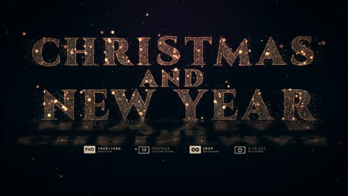 Christmas And New Year 13in1 Loop Gold Particles Backgrounds