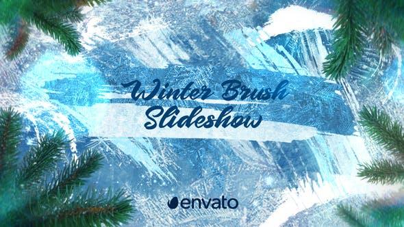 Winter-Pinsel-Diashow