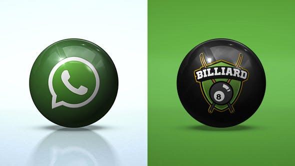 Saubere Rolling Ball Logo Enthü