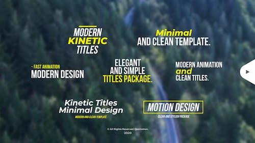 Modern Kinetic Titles