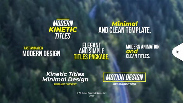 Thumbnail for Modern Kinetic Titles
