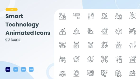 Animated Smart Technology Line Icons