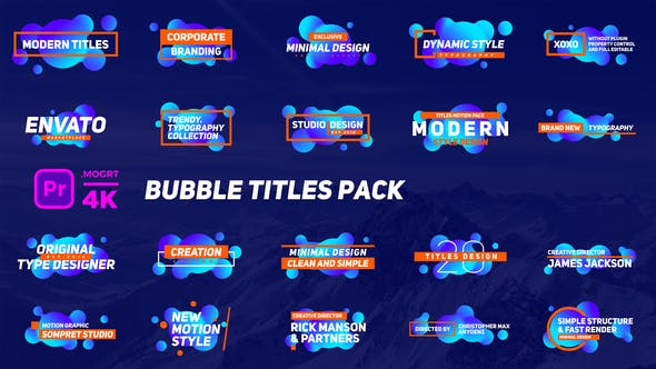 Bubble Titles Pack