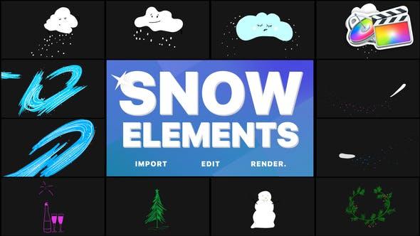 Cartoon Snow Clouds | FCPX