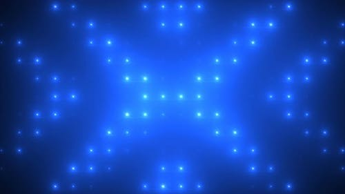 Feux stroboscopiques clignotant Vj Loop Blue Lights Board Wall of Lights