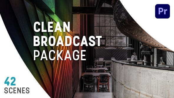 Clean Broadcast Package  | Essential Graphics | Mogrt
