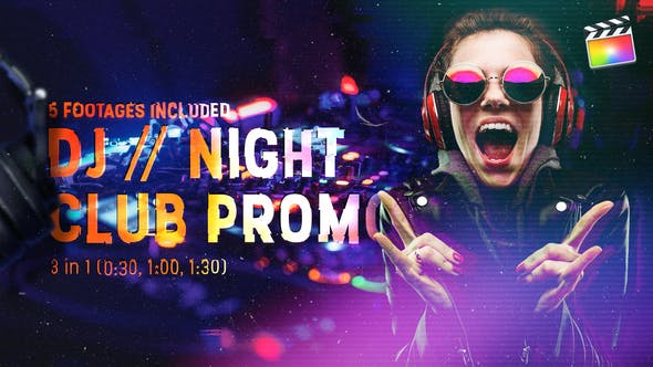 Thumbnail for DJ // Night Club Promo | Para Final Cut & Apple Motion