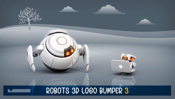 Robots 3D Logo Bumper III