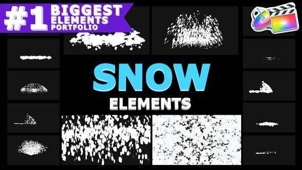 Thumbnail for Copos de nieve de dibujos animados | FCPX