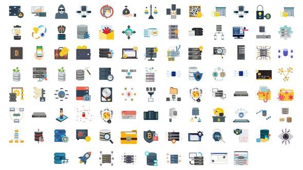 Thumbnail for 100 Cybersicherheit & DatenbankIcons