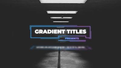 Gradient Titles