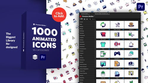 PremiumBuilder Animated Icons | Premiere Pro Extension