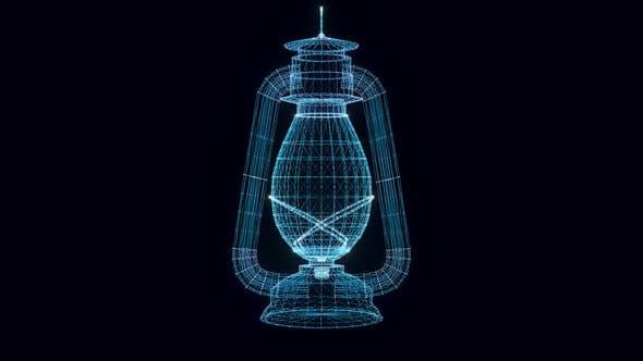 Kerosin-Lampe Hologramm Rotierende Hd