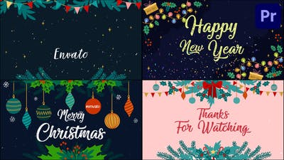 New Year Greetings Slideshow | Premiere Pro MOGRT
