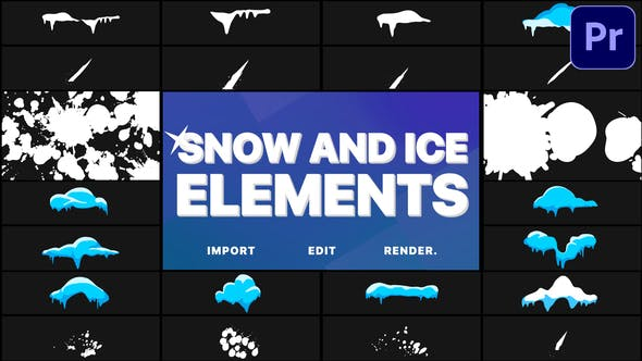 Snow And Ice Elements | Premiere Pro MOGRT