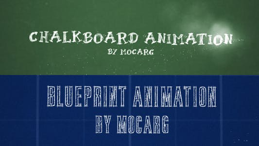 Thumbnail for Chalkboard and Blueprint Presentation
