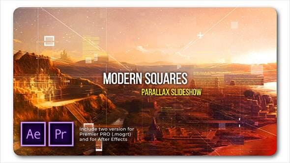Thumbnail for Modern Squares Parallax Slideshow