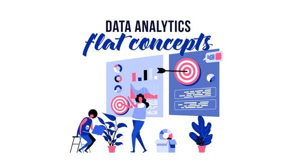 Thumbnail for Data analytics - Flat Concept