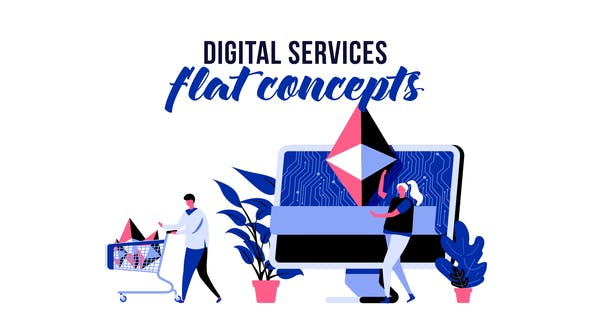 Digital services - Flat Concept