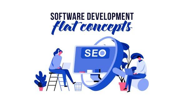 Thumbnail for Software development - Flat Concept
