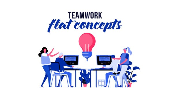 Thumbnail for Teamwork - Flat Concept