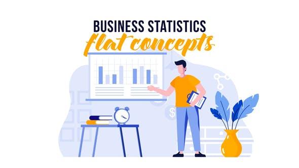 Thumbnail for Statistiques sur les entreprises - Flat concept