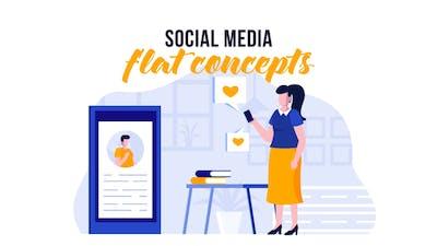 Social media - Flat Concept