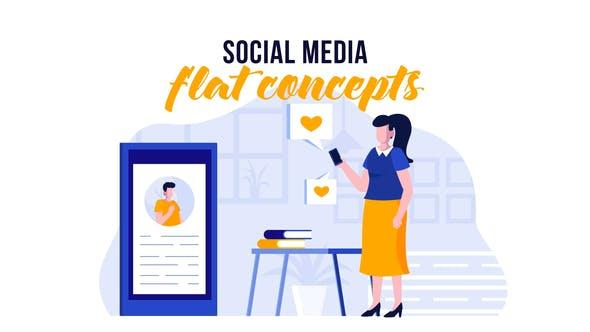 Thumbnail for Social media - Flat Concept