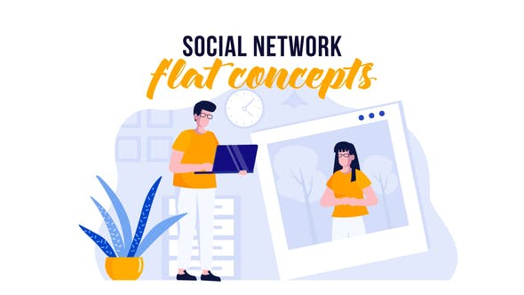 Thumbnail for Redes sociales - Flat Concept