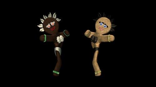 Belly Dancing Gingerbread Duo