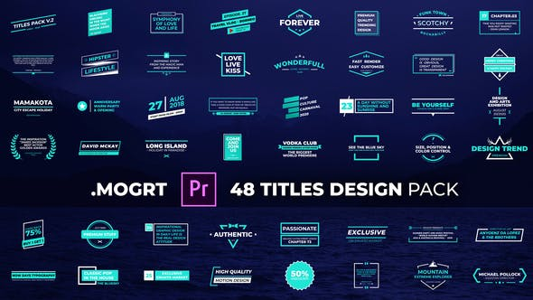 Pack Design Titres