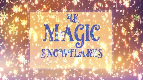4k Magic Snowflakes