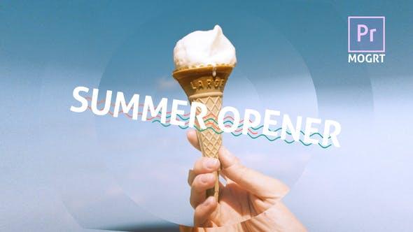Thumbnail for Abridor dinámico de verano MOGRT