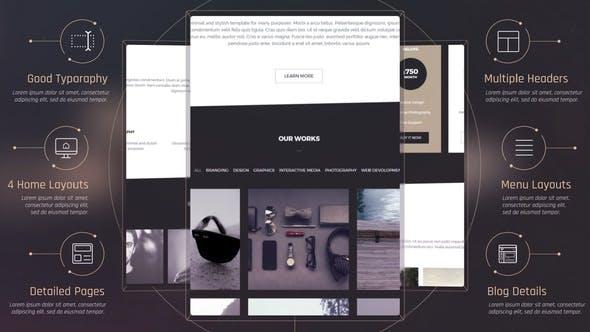 Thumbnail for Элегантная презентация веб-сайта