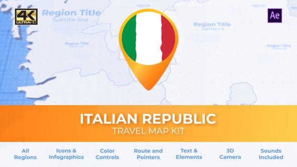 Thumbnail for Italy Map - Italian Republic Travel Map