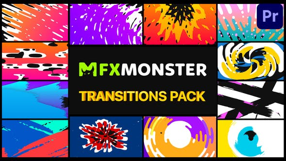 Thumbnail for Handy Colorful Transitions | Premiere Pro MOGRT