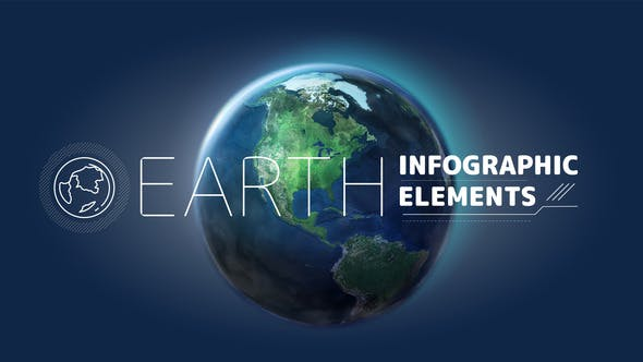 Thumbnail for Earth Infographic Elements.