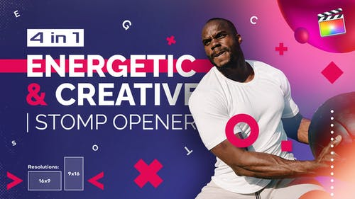 Energetic And Creative | Stomp Opener | For Final Cut & Apple Motion