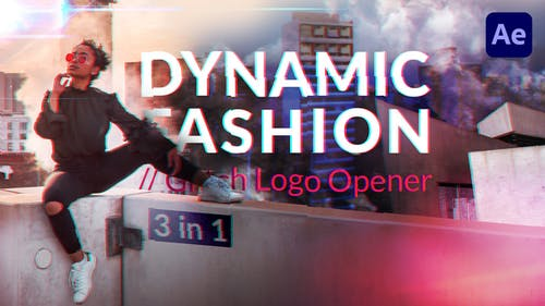 Moda dinámica // Abridor de Logo Glitch