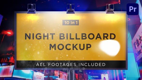 Night Billboard Mockup