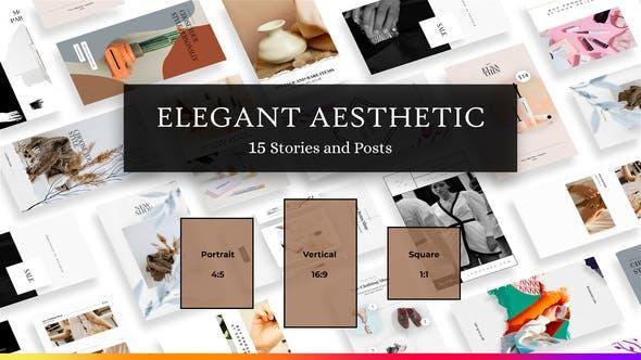 Historias y publicaciones de Instagram Estética Elegante