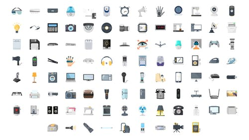 100 Electronic Gadgets Icons