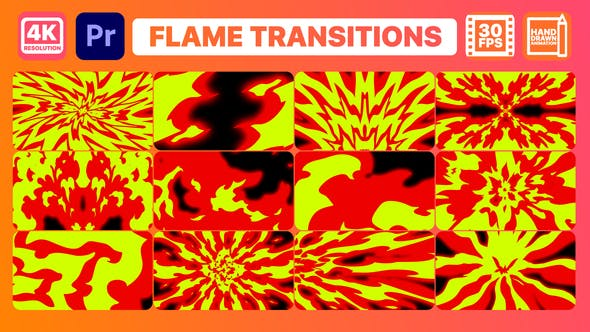 Thumbnail for Flame Transitions | Premiere Pro MOGRT
