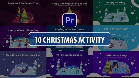 Christmas Activity Scenes | Premiere Pro MOGRT