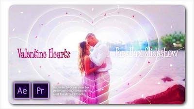 Valentine Hearts Parallax Slideshow