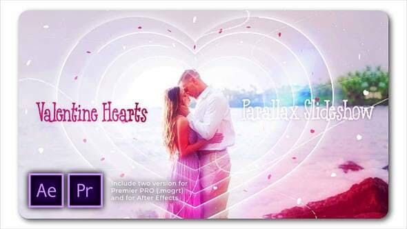 Thumbnail for Slideshow Parallax Corazones de San Valentín